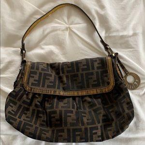 Authentic vintage Fendi zucca pattern handbag